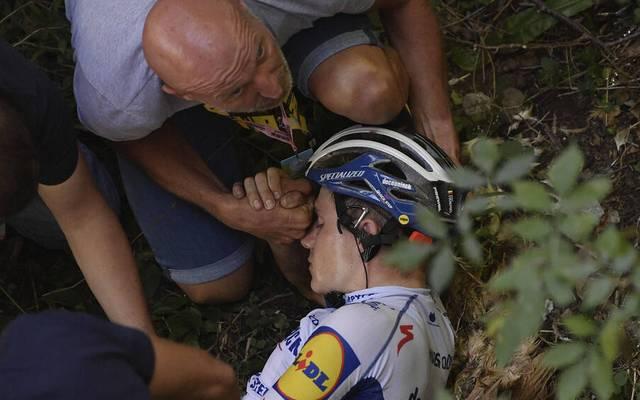 Remco Evenepoel war bei der Lombardei-Rundfahrt schwer gestürzt