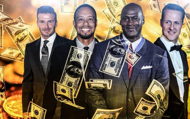 """Das Wirtschaftsmagazin """"Forbes"""" kürt die reichsten Sportler aller Zeiten. Unter den Top 20 findet nur ein Deutscher Platz, Golfer und Basketballer dominieren. SPORT1 zeigt die reichsten Sportler der Geschichte im Überblick"""