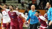 Katars Spieler jubeln bei der WM 2015