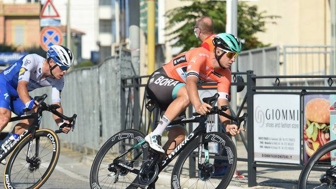 Pascal Ackermann vom Team  Bora -Hansgrohe verpasste bei der Vuelta den möglichen Etappensieg
