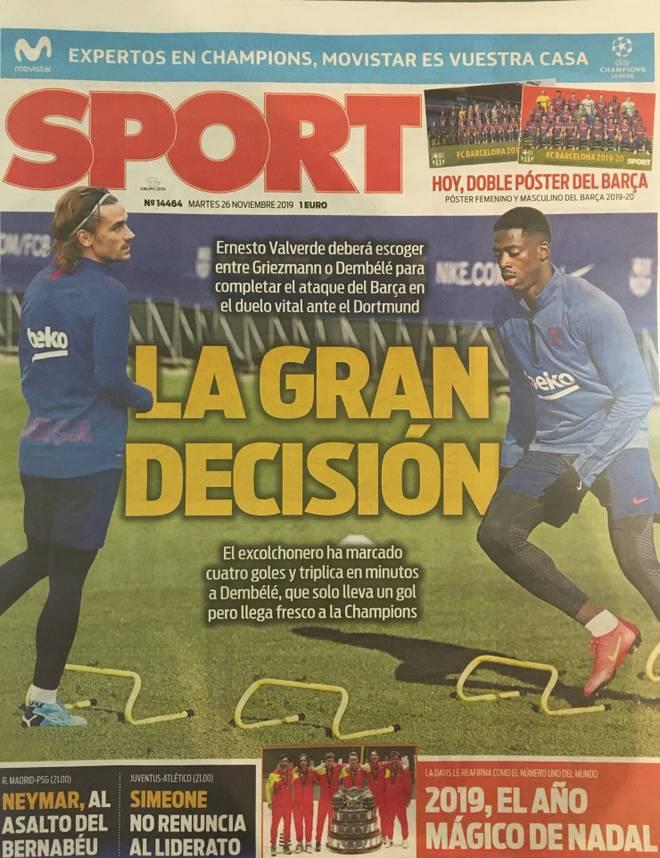 Griezmann oder Dembélé? Gegen den BVB spielt wohl nur einer der beiden Barca-Stars von Anfang an