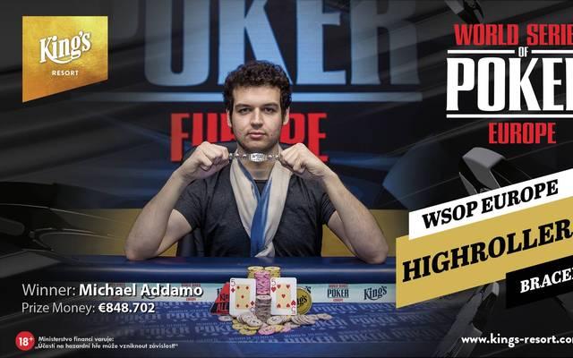 Michael Addamo gewann das zweite WSOP-Bracelet in diesem Jahr