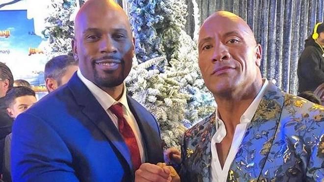 "Auch Dwayne ""The Rock"" Johnson (r.) trauert um Shad Gaspard"