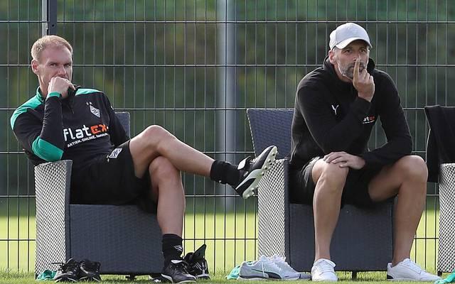 Alexander Zickler (l.) und Marco Rose (r.) wohnen seit ihrem Wechsel von RB Salzburg zur Borussia in einer Männer-WG zusammen
