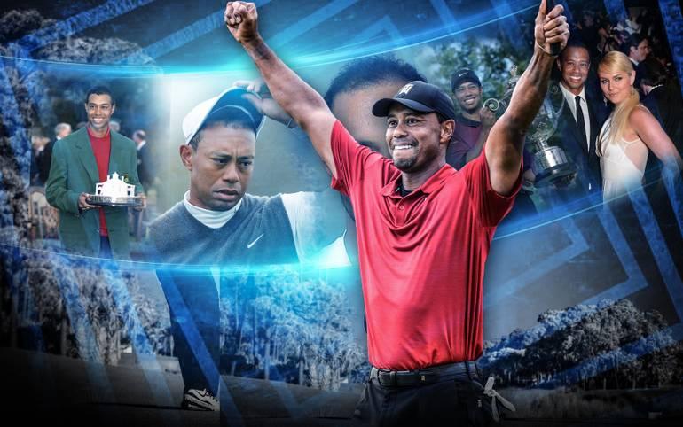 Golf-Superstar Tiger Woods ist wieder obenauf. Der Titel in Augusta ist die Krönung eines zweiten märchenhaften Comebacks - dem zwei tiefe Abstürze vorausgegangen waren. SPORT1 zeigt Woods' Karriere in Bildern