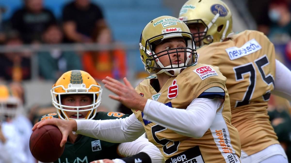 Kyle Carta-Samuels ist seit Saisonbeginn Quarterback der Dresden Monarchs