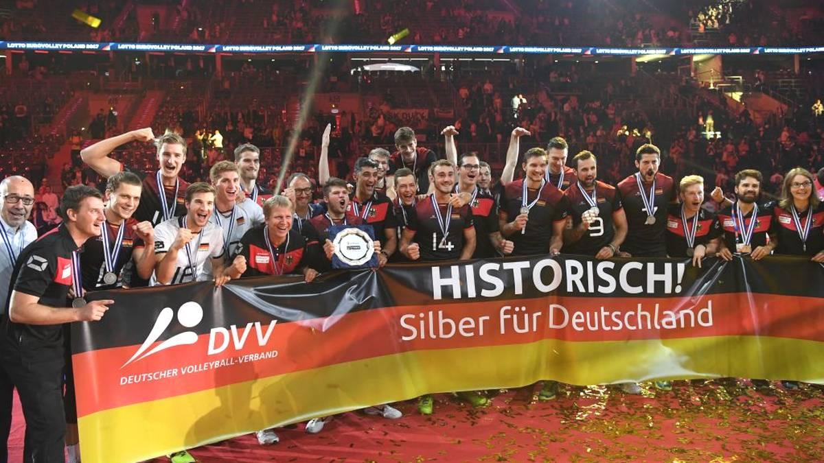 Volleyball-Männer gewinnen 2017 EM-Silber