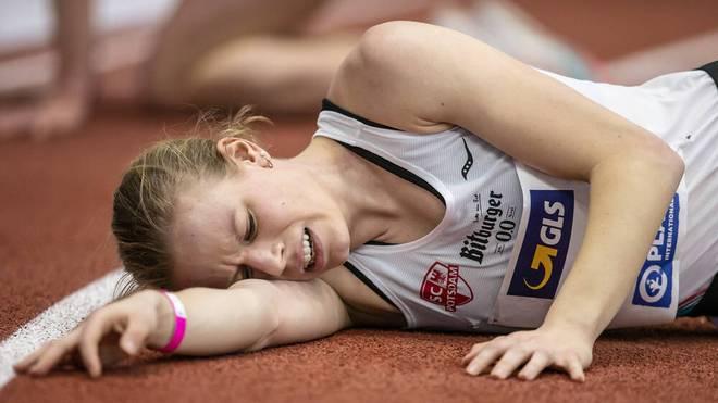 Laura Lindemann nach ihrem Rennen in Dortmund