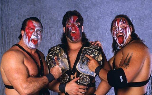 Ax, Crush und Smash (v.l.) dominierten bei WWE als Demolition