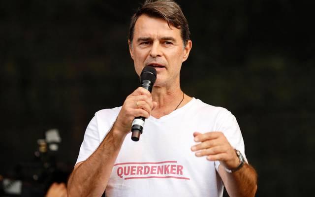 Thomas Berthold spricht häufiger auf Querdenker-Kundgebungen