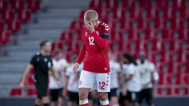 Kasper Dolberg bei der 0:2-Niederlage Dänemarks gegen Belgien