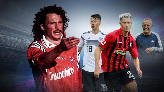 Vater Harry Koch (l.) war einst Publikumsliebling beim 1. FC Kaiserslautern, Christian Streich (r.) trainiert Robin Koch in Freiburg