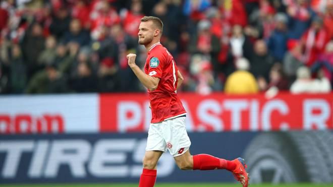 Der Mainzer Daniel Brosinski sorgte mit seinem Tor für den Elfer-Rekord