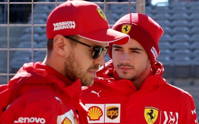 In diesem Jahr werden Vettel und Leclerc noch für Ferrari fahren