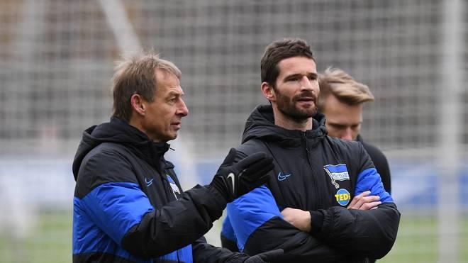 Arne Friedrich (r.) steht vor einer Beförderung bei Hertha BSC