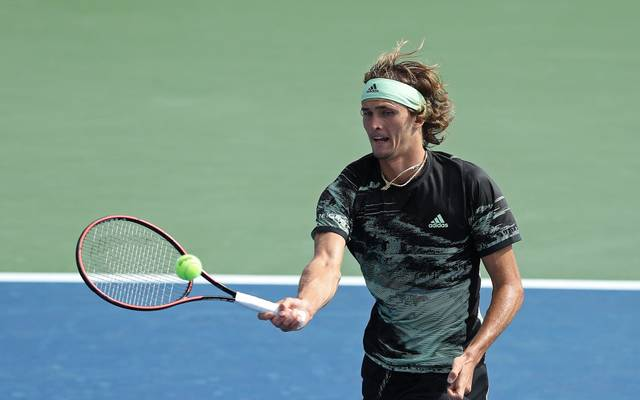 NEW YORK, NEW YORK - AUGUST 27: Alexander Zverev of Germany returns a shot against Radu Albot of Moldova on day two of the 2019 US Open at the USTA Billie Jean King National Tennis Center on August 27, 2019 in the Flushing neighborhood of the Queens borough of New York City. (Photo by Elsa/Getty Images)