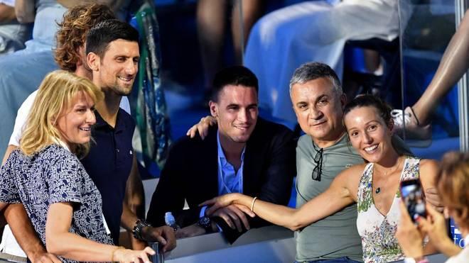 Auch Srdjan Djokovic (2.v.r.) war zu Gast bei der Adria Tour