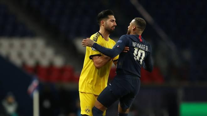 Emre Can sah nach einer Rangelei mit Neymar die Rote Karte