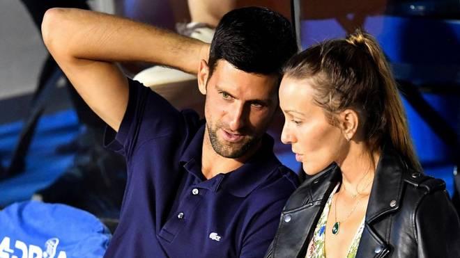 Novak Djokovic und seine Frau Jelena sind negativ getestet worden