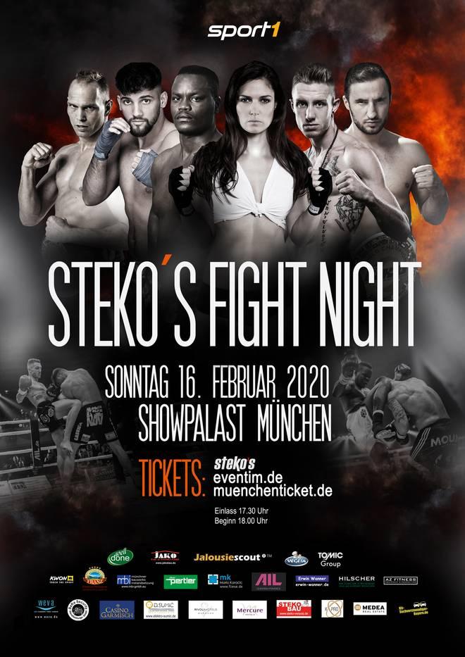 SPORT1 überträgt die Steko's Fight Night aus dem Showpalast in München am 16. Februar live im Free-TV