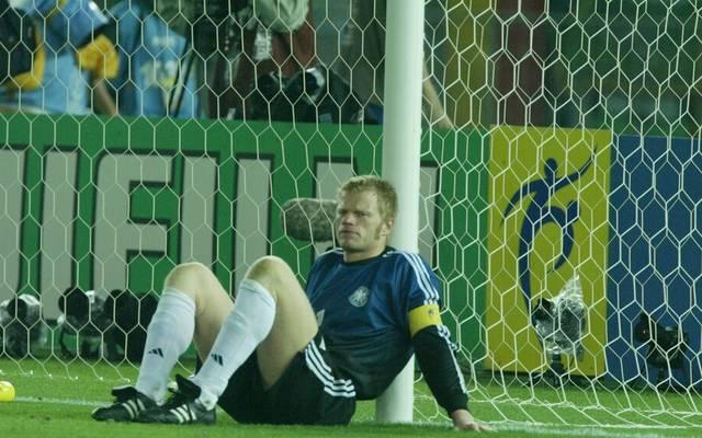 Deutschland verlor das WM-Finale 2002 mit Oliver Kahn im Tor gegen Brasilien mit 0:2