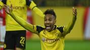 Pierre-Emerick Aubameyang von Borussia Dortmund reagiert