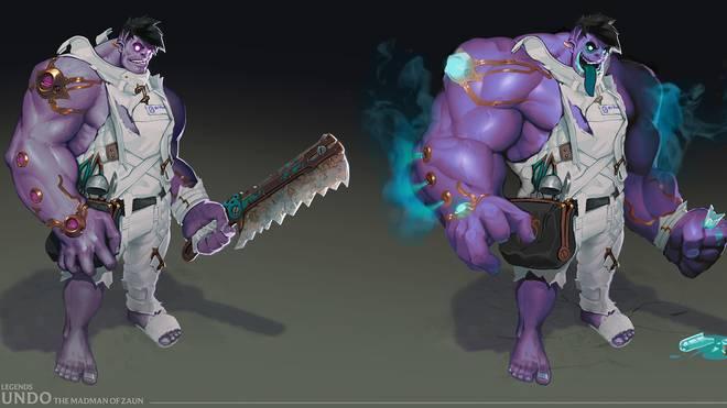 League of Legends Dr. Mundo präsentiert sich dank Rework in einem neuen Gewand.