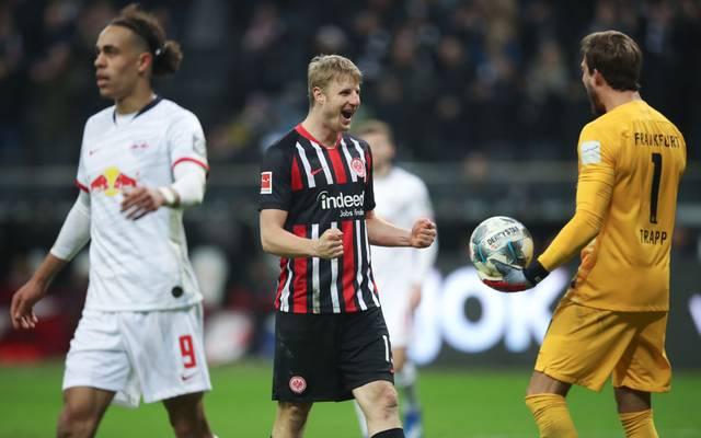 In der Bundesliga gewann Eintracht Frankfurt vor anderthalb Wochen mit 2:0 gegen RB Leipzig