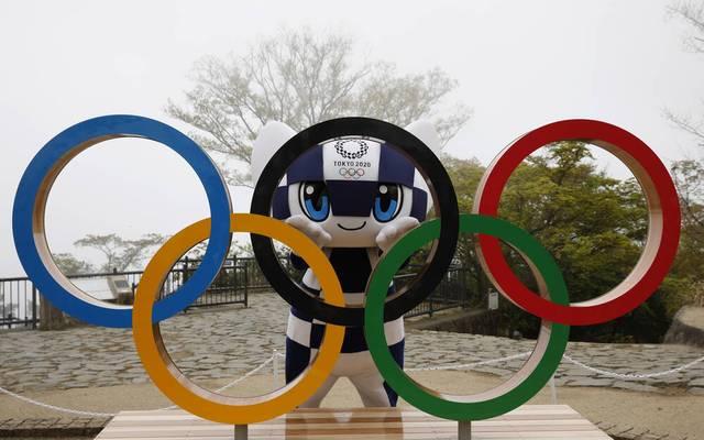 Maskottchen Miraitowa zittert um die Olympischen Spiele