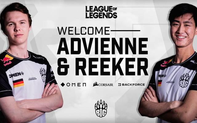 BIG rüstet sich mit Advienne und Reeker für den Summer Split in der Prime League