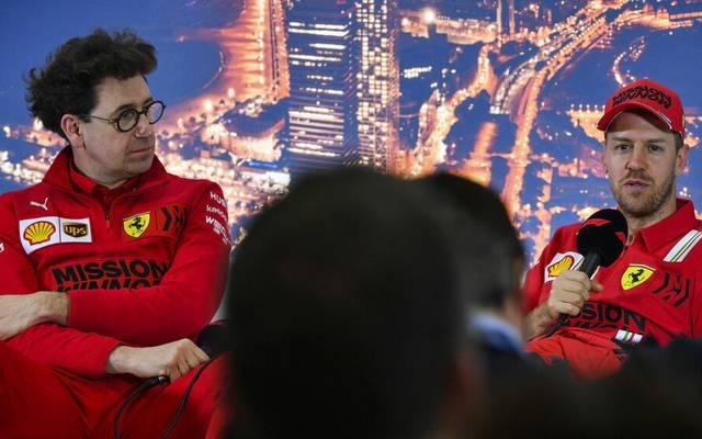 Mattia Binotto ist mit Sebastian Vettel nicht restlos zufrieden