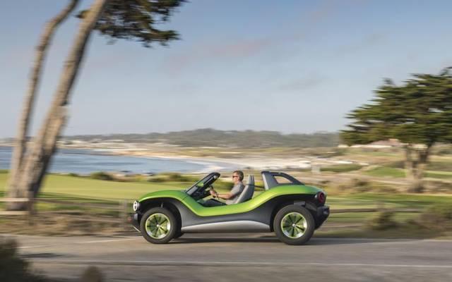 Im Bug des ID Buggy surrt ein E-Motor mit 150 kW/204 PS