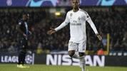 Real Madrid's Brazilian forward Rodrygo celebrates after scoring the opener during the UEFA Champions League Group A football match between Club Brugge and Real Madrid CF at the Jan Breydel Stadium in Bruges on December 11, 2019. (Photo by KENZO TRIBOUILLARD / AFP) (Photo by KENZO TRIBOUILLARD/AFP via Getty Images)