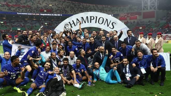 Jubel bei Al-Hilal über den Sieg in der asiatischen Champions League