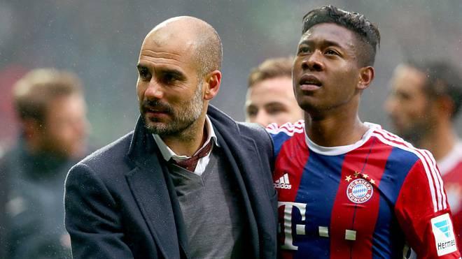 David Alaba und Pep Guardiola kennen sich bereits aus gemeinsamen Münchener Zeiten