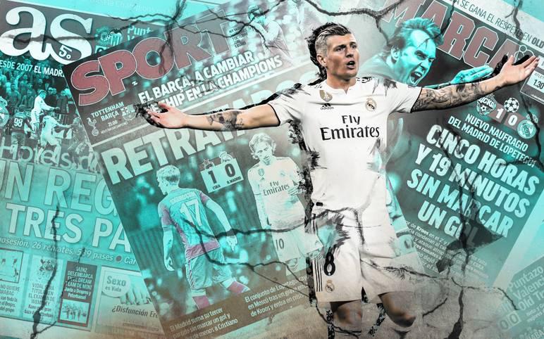 Titelverteidiger Real Madrid blamiert sich in der Champions League bei ZSKA Moskau und verliert mit 0:1. Viele Zeitungen in Spanien und England halten sich mit Kritik nicht zurück