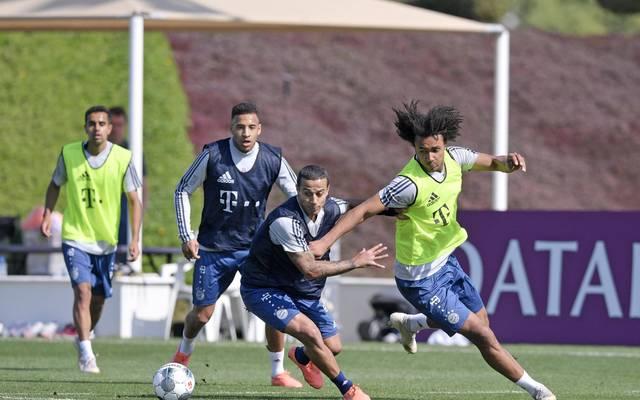 Corention Tolisso und Thiago sind zurück im Training