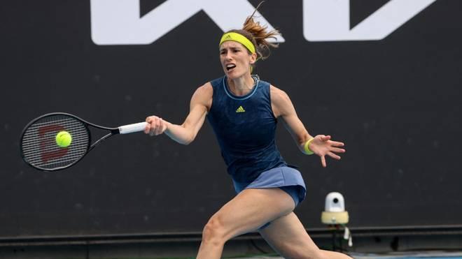 Andrea Petkovic ließ in  Melbourne gleich zwei Matchbälle aus