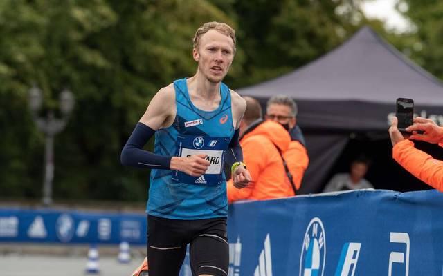 Richard Ringer beim Berlin-Marathon Ende 2020