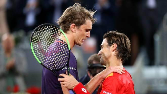 David Ferrer (r.) beendete im Mai 2019 nach einer Niederlage gegen Alexander Zverev seine Karriere
