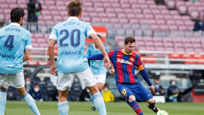 Raus mit dem FC Barcelona im Titelkampf: Lionel Messi
