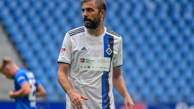 Der Hamburger SV trat im Test gegen Rostock mit einem Not-Trikot an