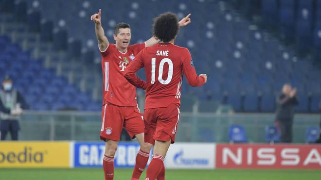Robert Lewandowski und Leroy Sané treffen beim klaren Sieg gegen Lazio