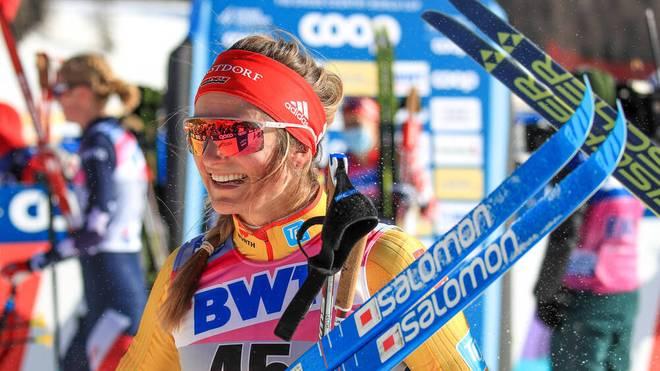 Laura Gimmler war nach ihrem Rennen glücklich