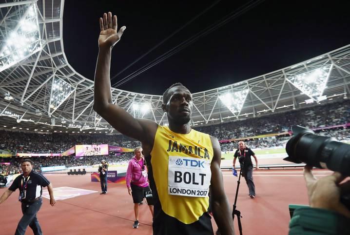 Das 100-Meter-Finale bei der WM in London war Usain Bolts letztes großes Einzelrennen, der jamaikanische Sprintstar verabschiedet sich mit Bronze von der großen Leichtathletik-Bühne - und hält immer noch die drei schnellsten je gelaufenen 100-Meter-Zeiten
