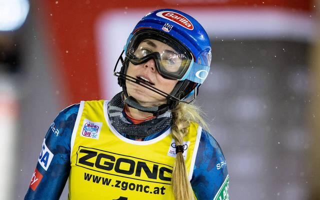 Mikaela Shiffrin landete auf Platz zwei
