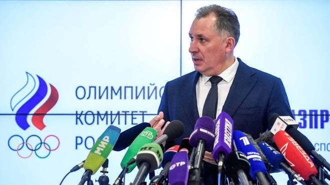 ROC-Präsident Stanislav Pozdnyakov nach einem Treffen mit der Russischen Anti-Doping-Agentur