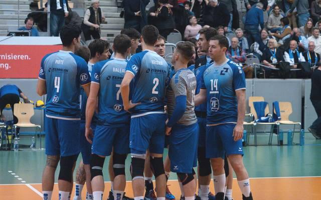 Die Volleyballer des VfB Friedrichshafen müssen improvisieren