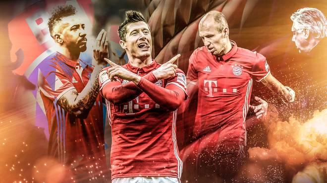 Carlo Ancelotti (r.) und dem FC Bayern ist die Meisterschaft eigentlich nicht mehr zu nehmen
