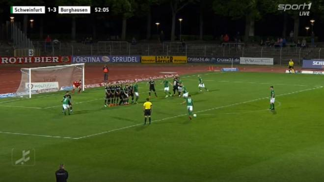 Regionalliga Bayern Schweinfurt gegen Wacker Burghausen